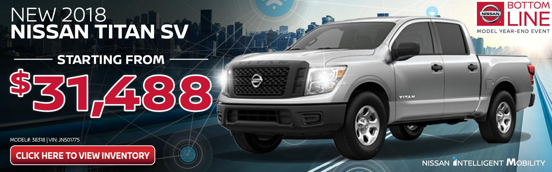 Nissan Titan $31,488 Purchase