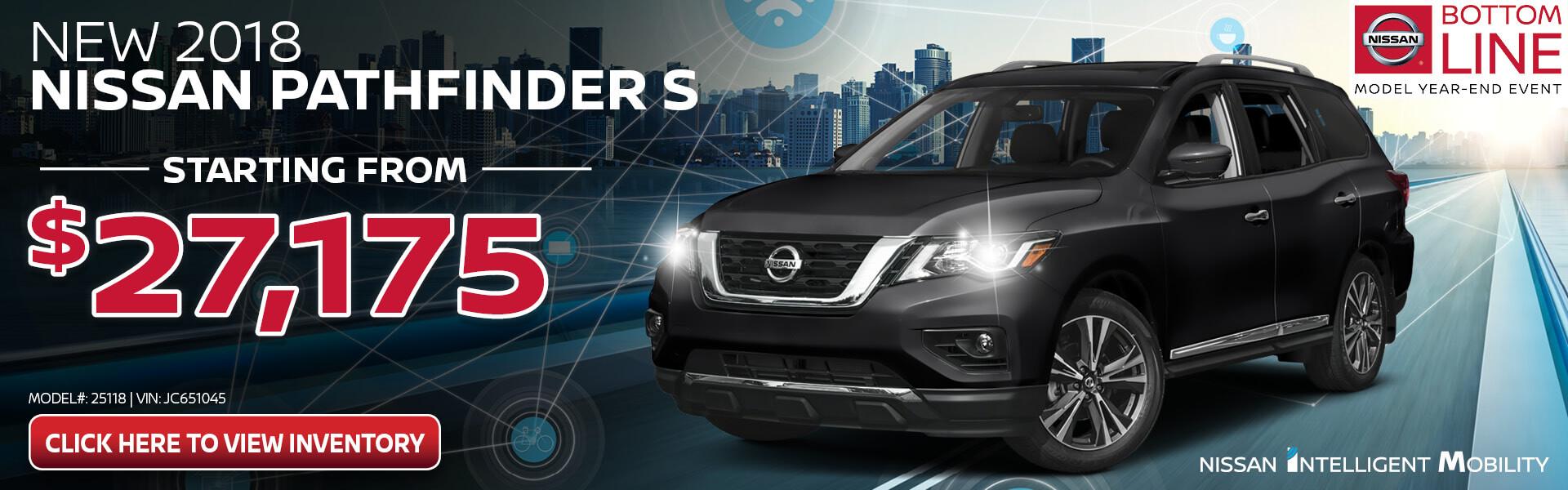 Nissan Pathfinder $27,175 Purchase