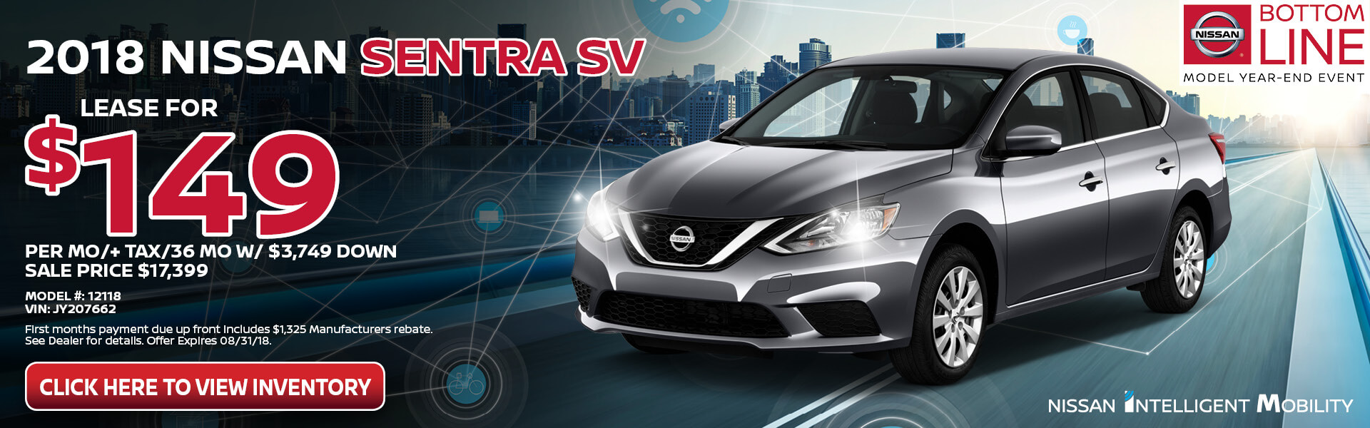Nissan Sentra $149 Lease
