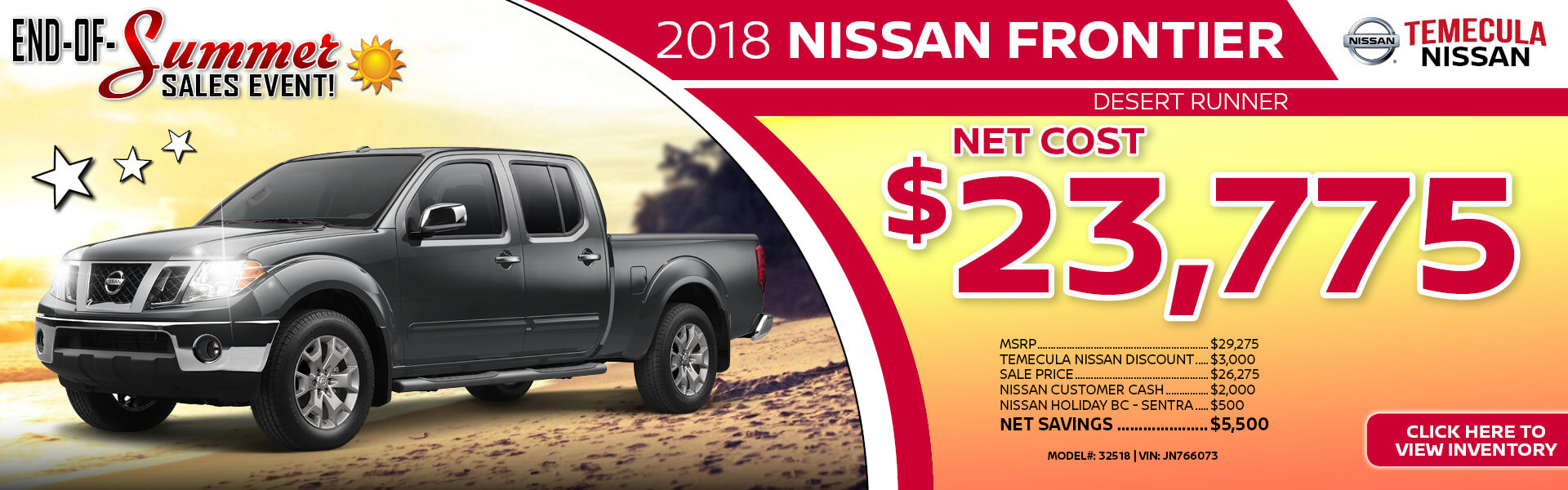 Nissan Frontier $23,775 Purchase