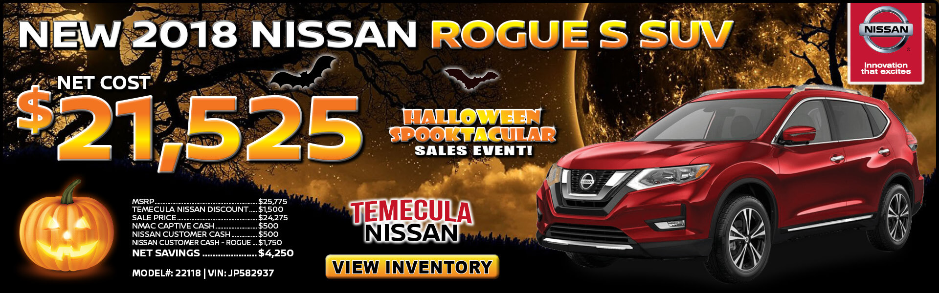 Nissan Rogue $21,525 Purchase
