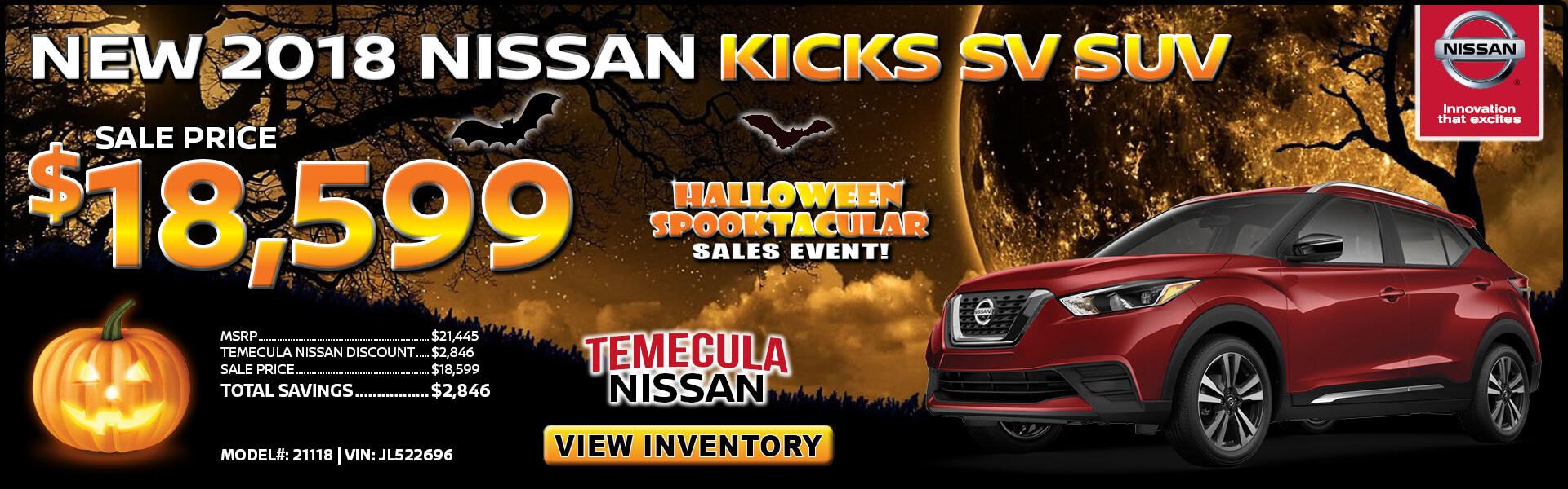 Nissan Kicks $18,599