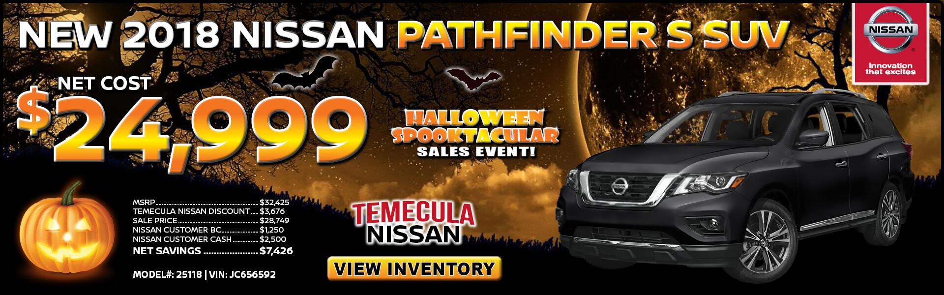 Nissan Pathfinder $24,999 Purchase