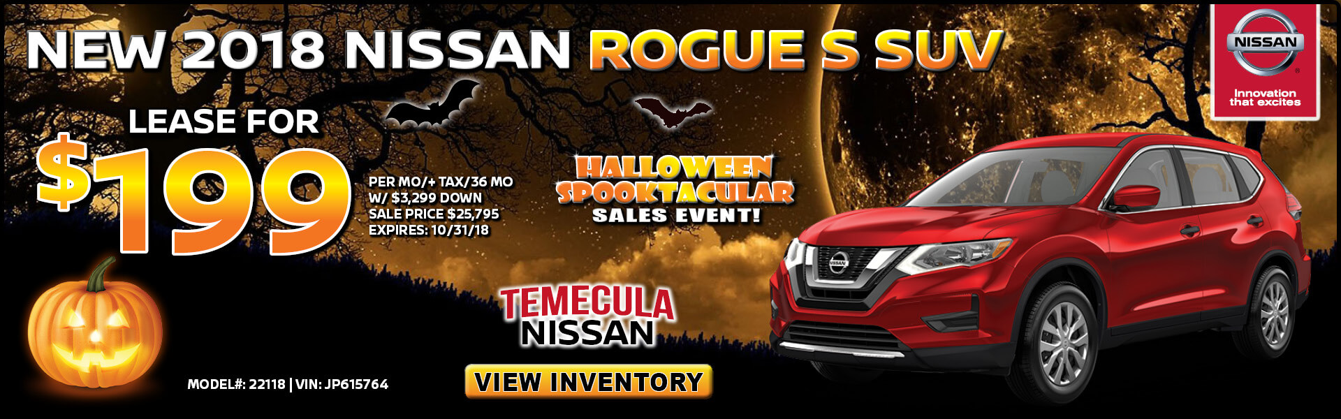 Nissan Rogue $199 Lease