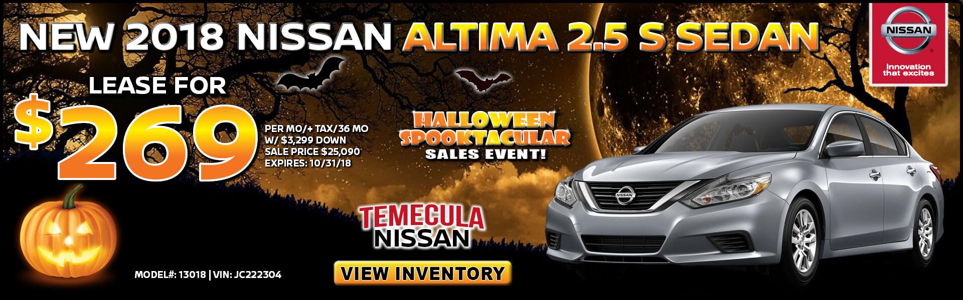 Nissan Altima $269 Lease