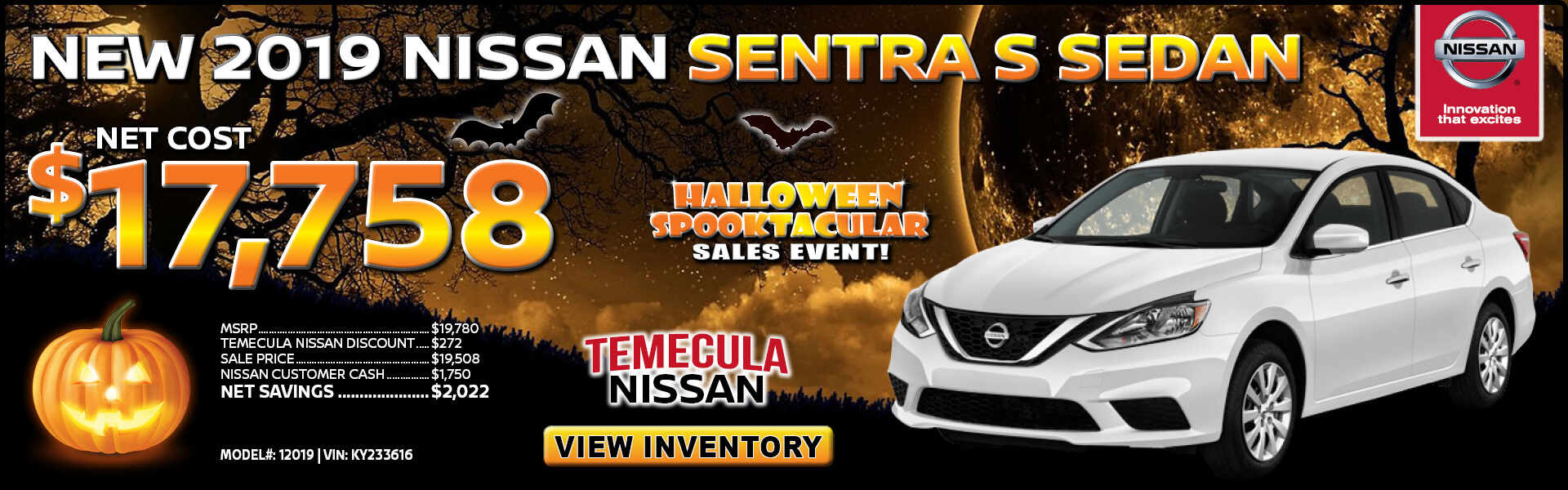 Nissan Sentra $17,758 Purchase