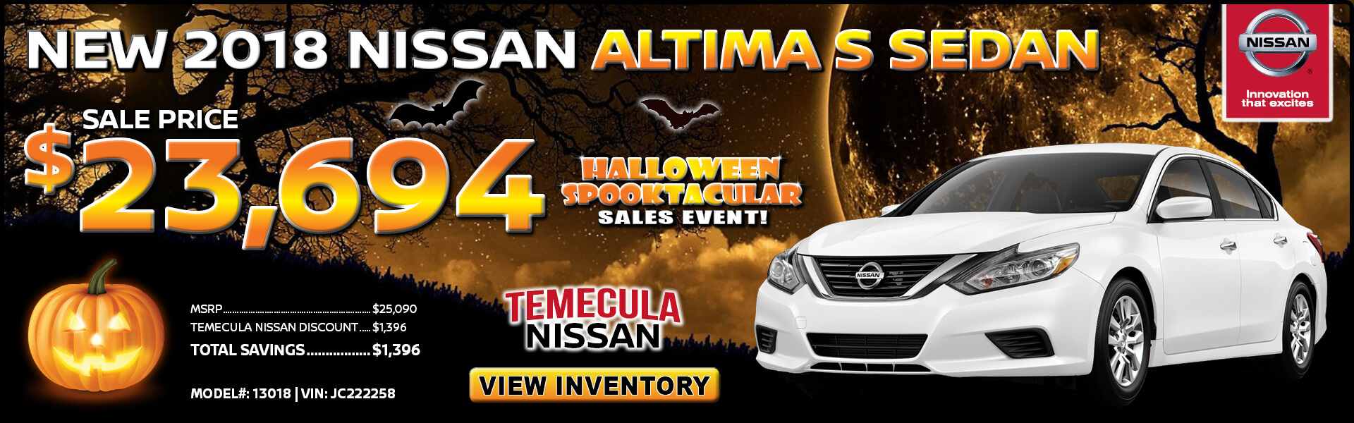 Nissan Altima $23,694 Purchase