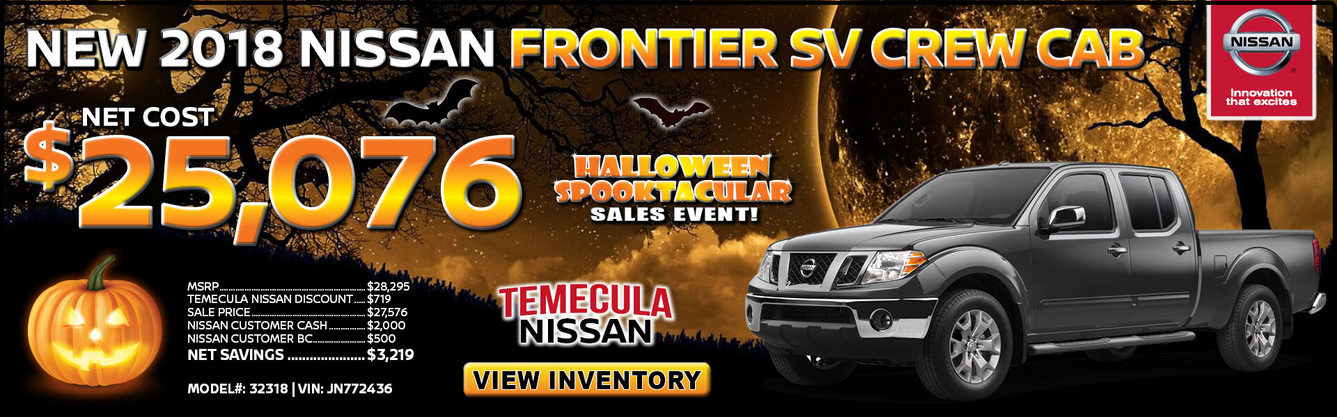 Nissan Frontier $25,076 Purchase
