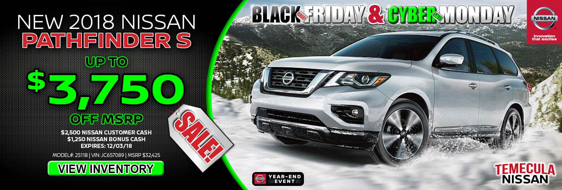 Nissan Pathfinder $3,750 off MSRP
