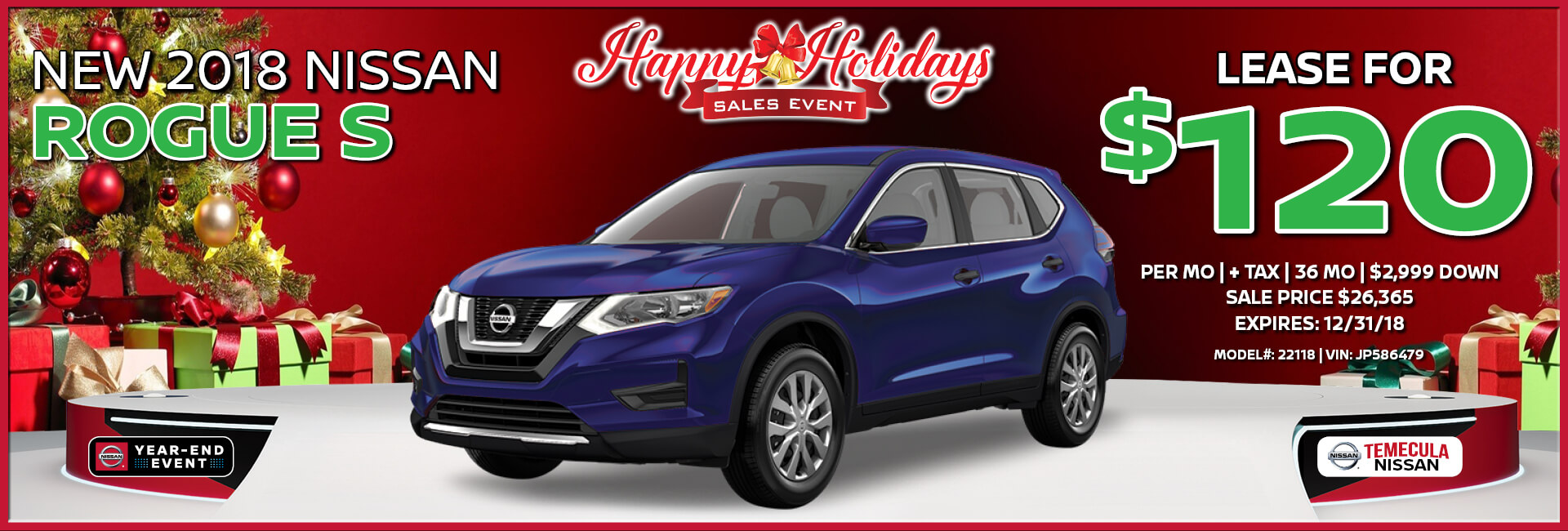 Nissan Rogue $120 Lease