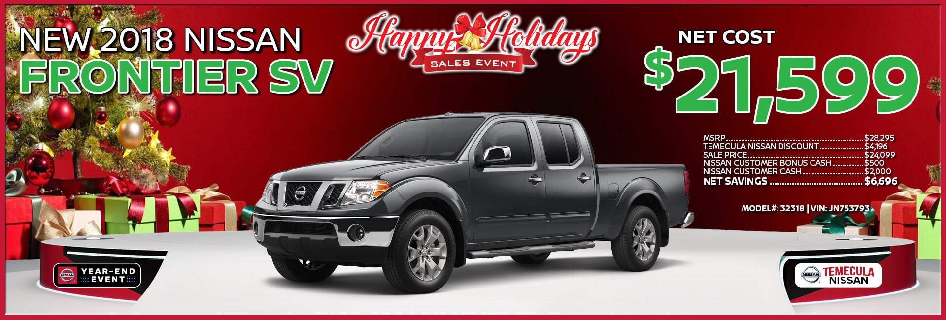 Nissan Frontier $21,599