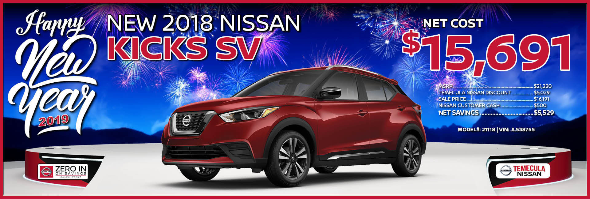 Nissan Kicks $15,691
