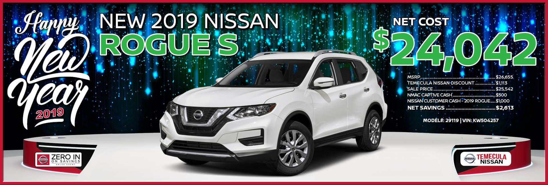 Nissan Rogue $24,042