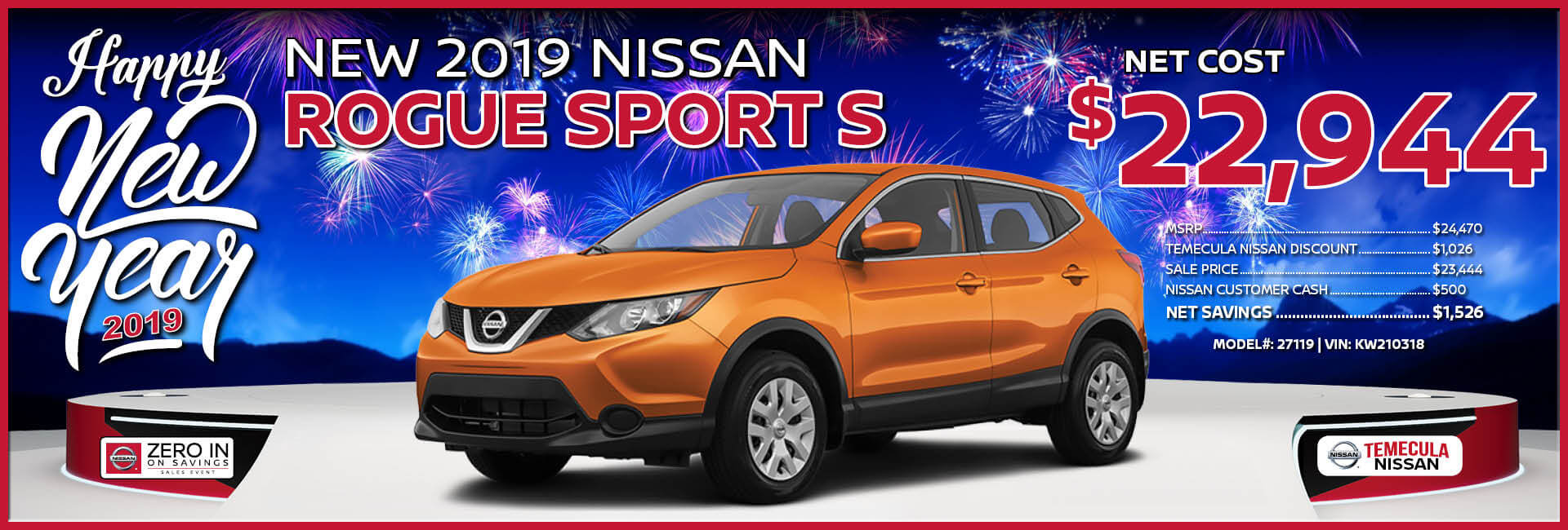 Nissan Rogue Sport $22,944