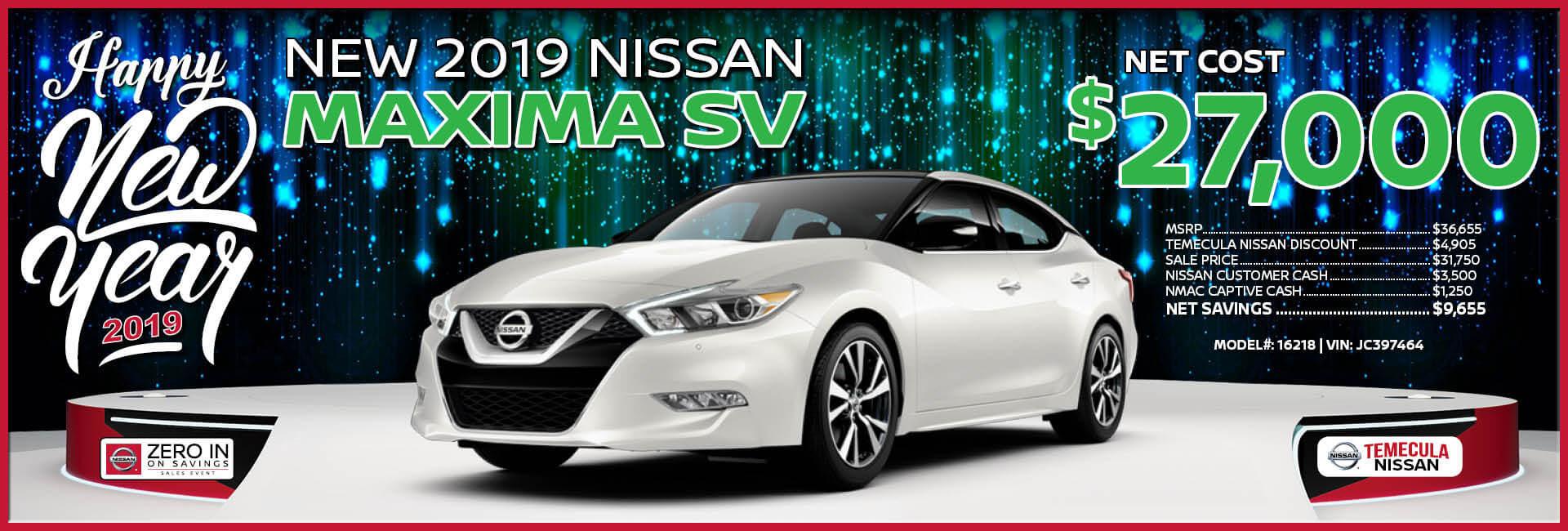 Nissan Maxima $27,000