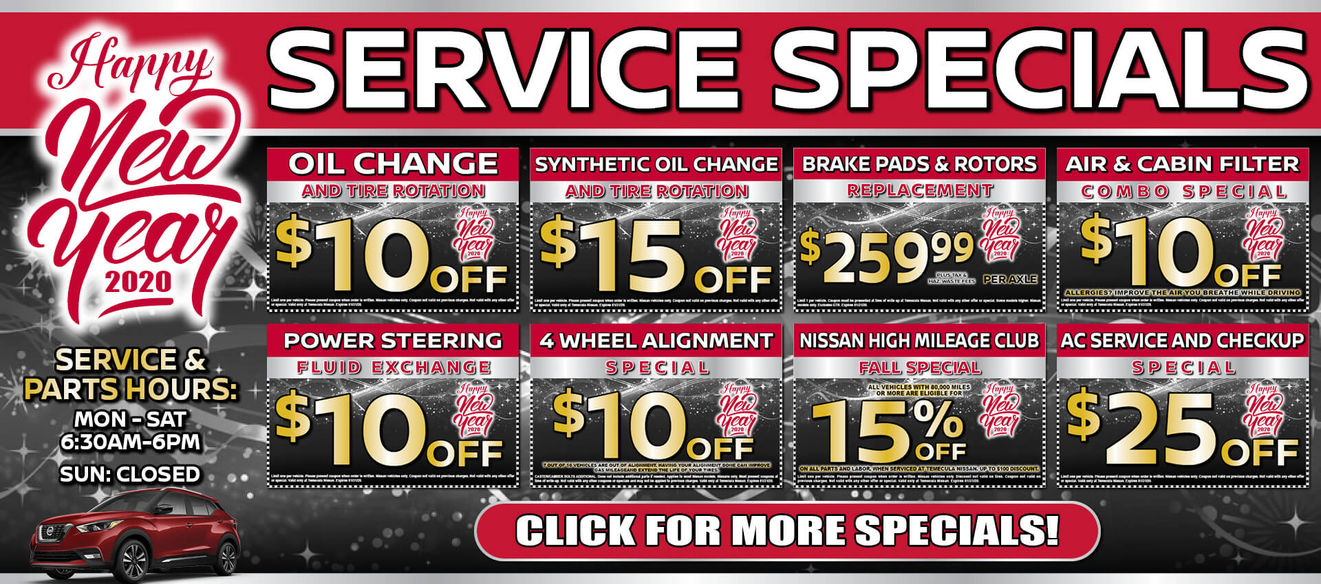 Service Specials Jan 2020