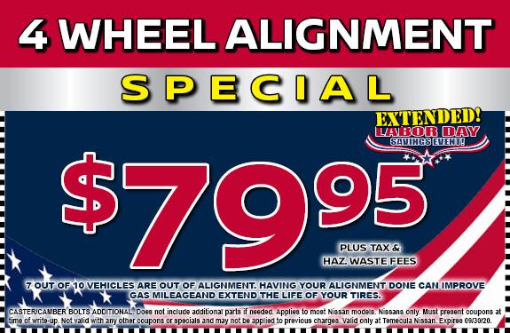 4 Wheel Alignment Special