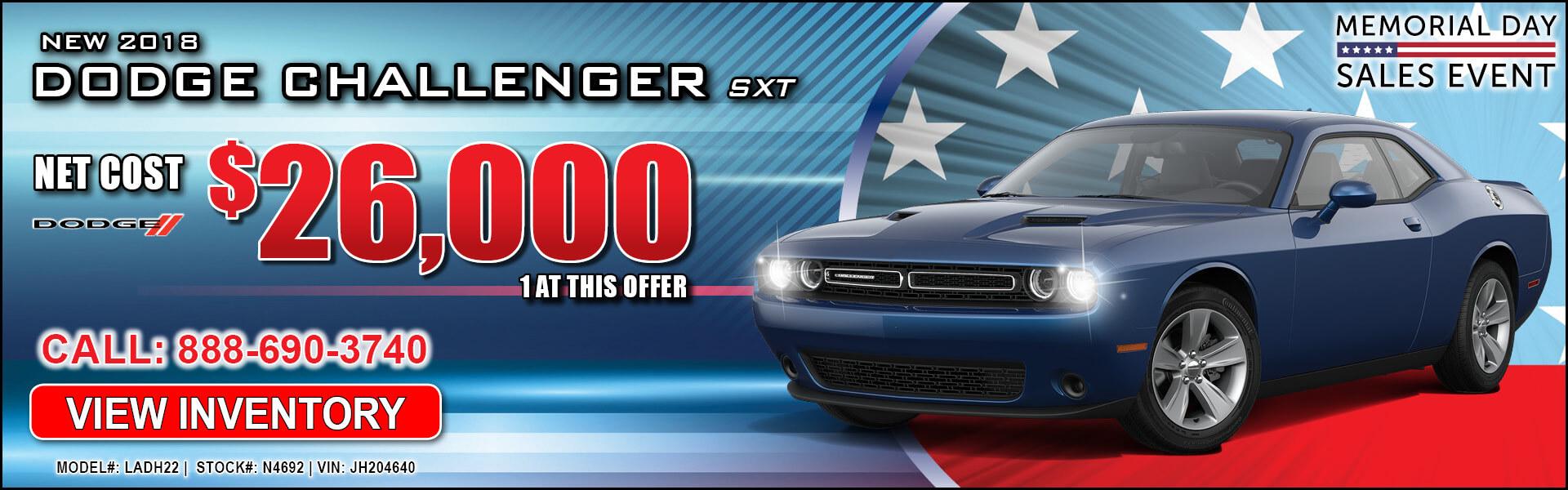 Dodge Challenger $26,000