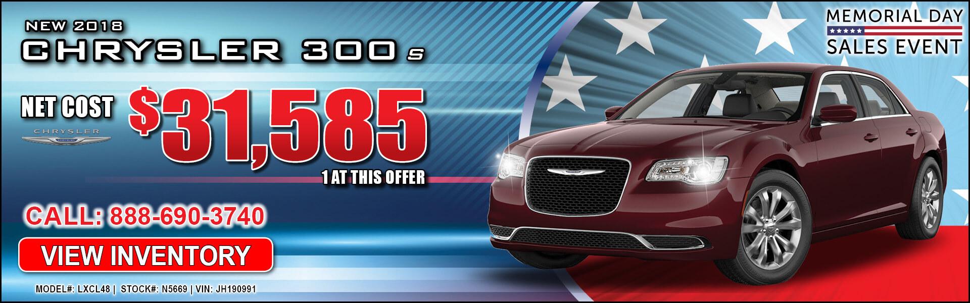 Chrysler 300 $31,585