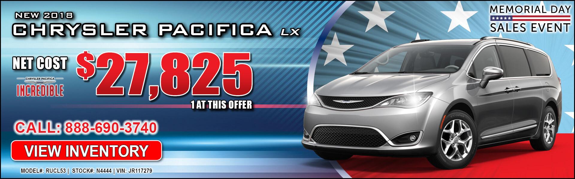 Chrysler Pacifica $27,825
