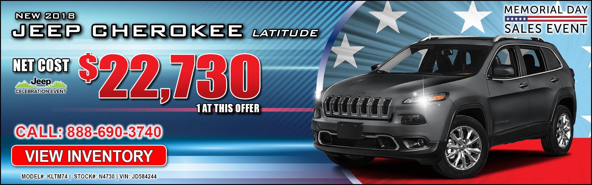 Jeep Cherokee $22,730