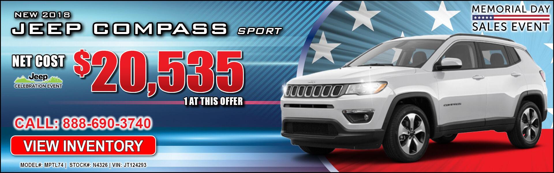 Jeep Compass $20,535