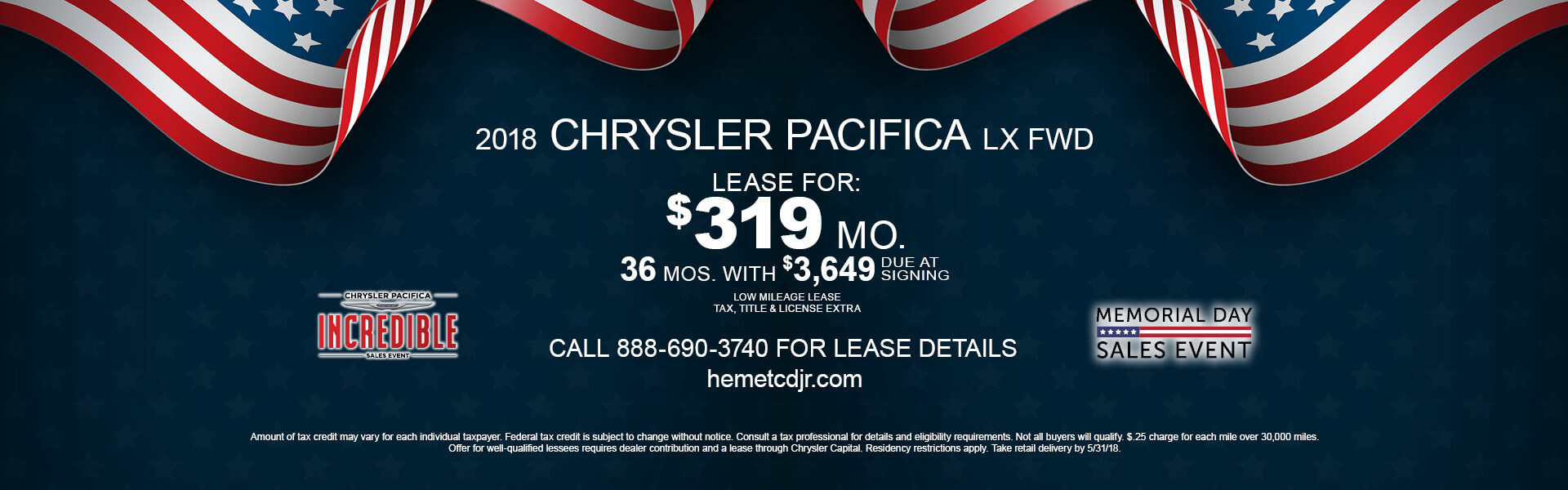 Chrysler Pacifica $319 Lease