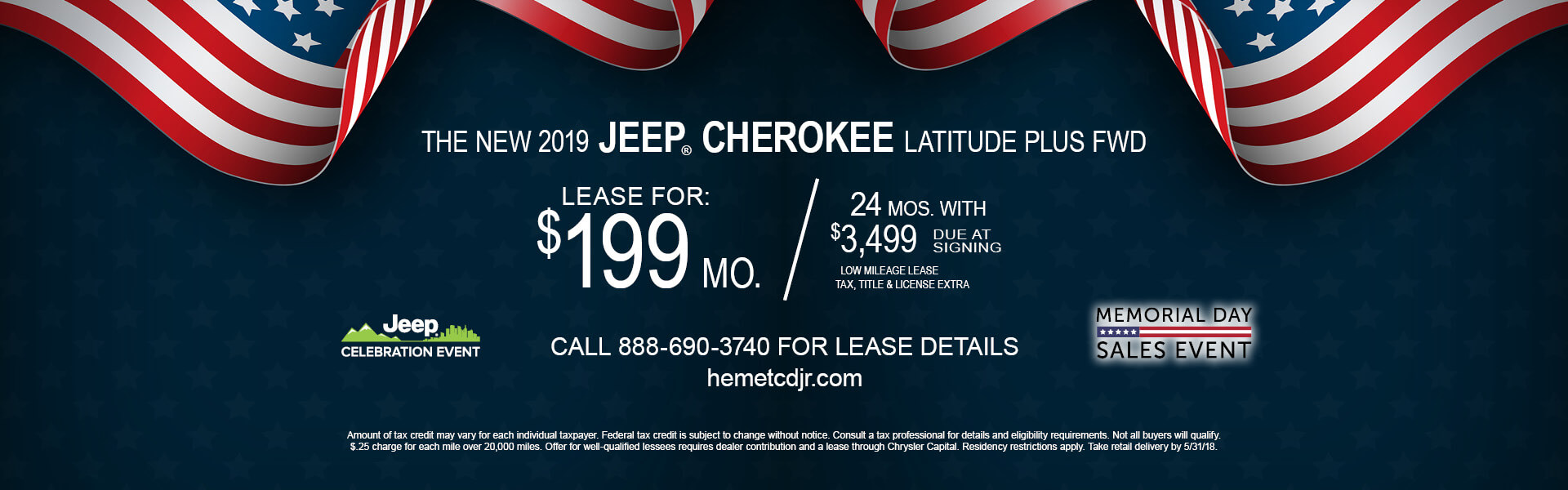 Jeep Cherokee Latitude $199 Lease