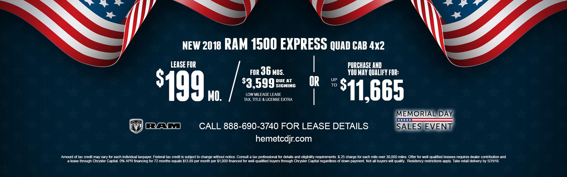 Ram 1500 Express $199 Lease