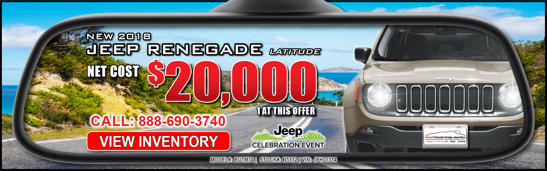 Jeep Renegade $20,000