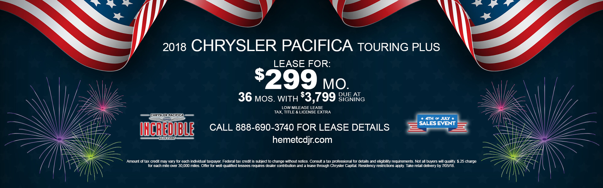 Chrysler Pacifica $299 Lease