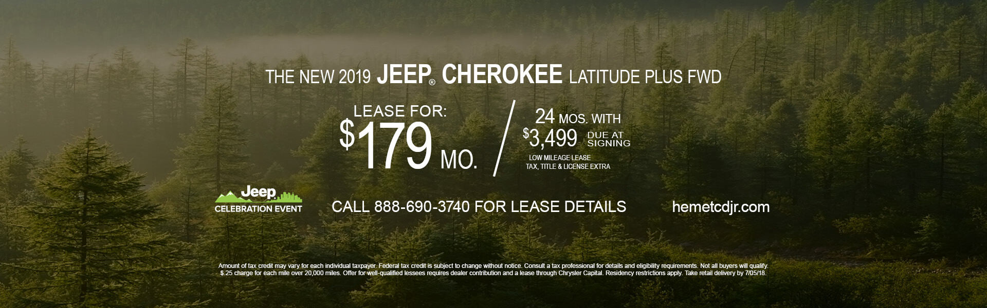 Jeep Cherokee Latitude $179 Lease