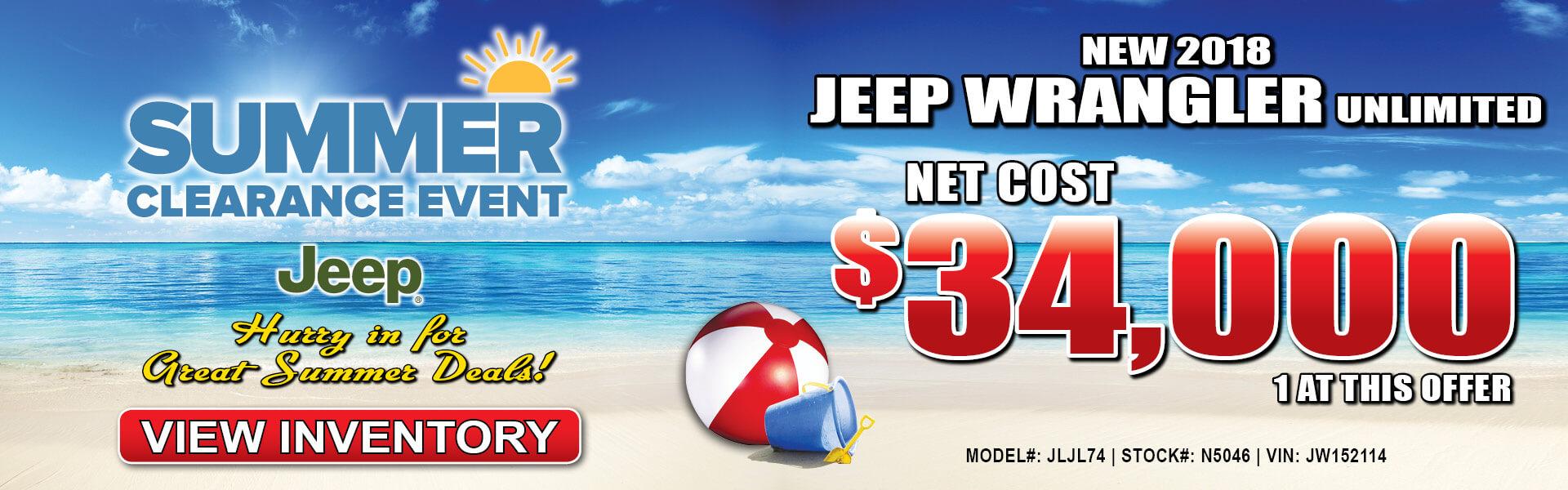 Jeep Wrangler JK $34,000
