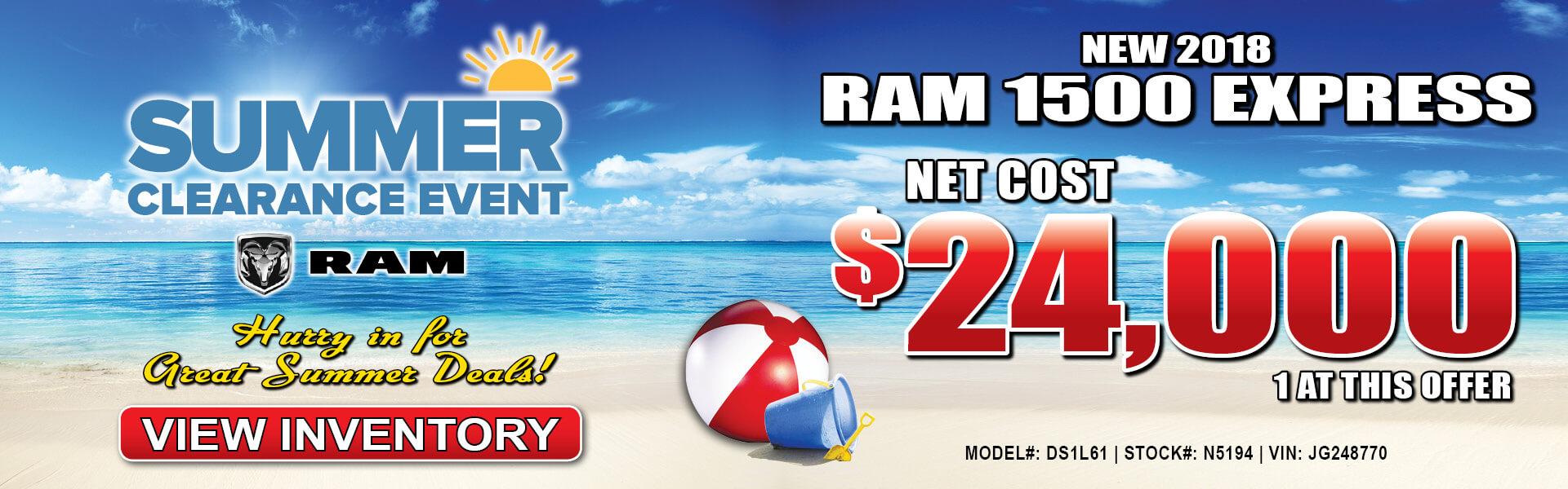 Ram 1500 Express $24,000