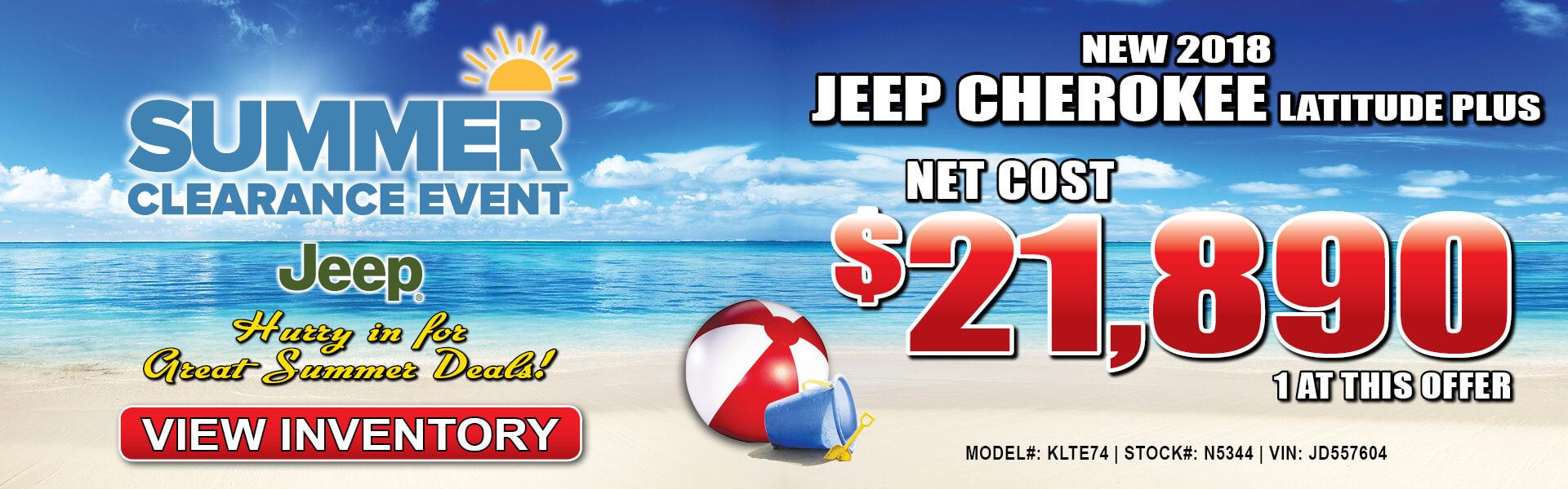 Jeep Cherokee $21,890