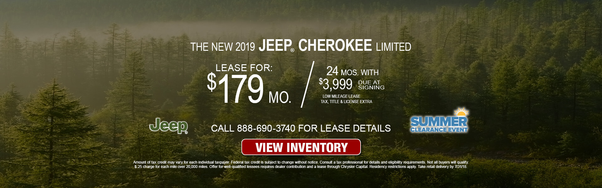 Jeep Cherokee Limited $179 Lease