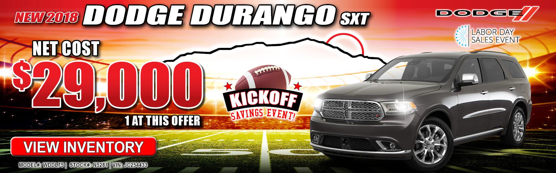 Dodge Durango $29,000