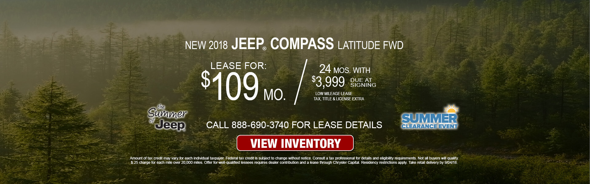 Jeep Grand Compass $109 Lease