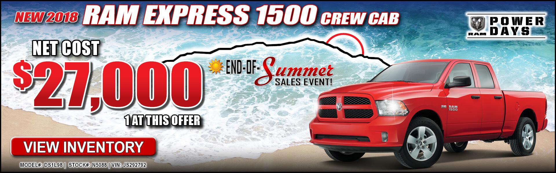 Ram 1500 Express $27,000