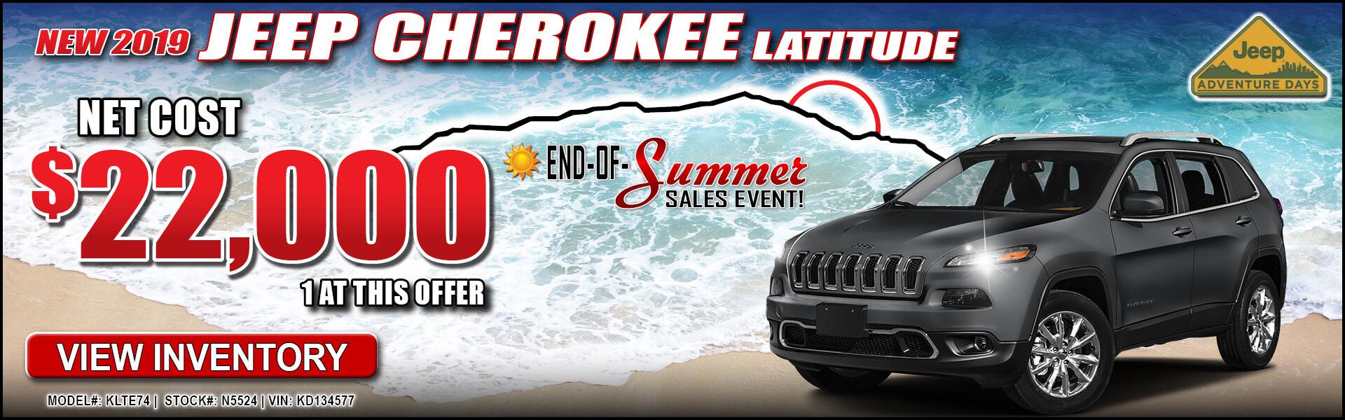Jeep Cherokee $22,000