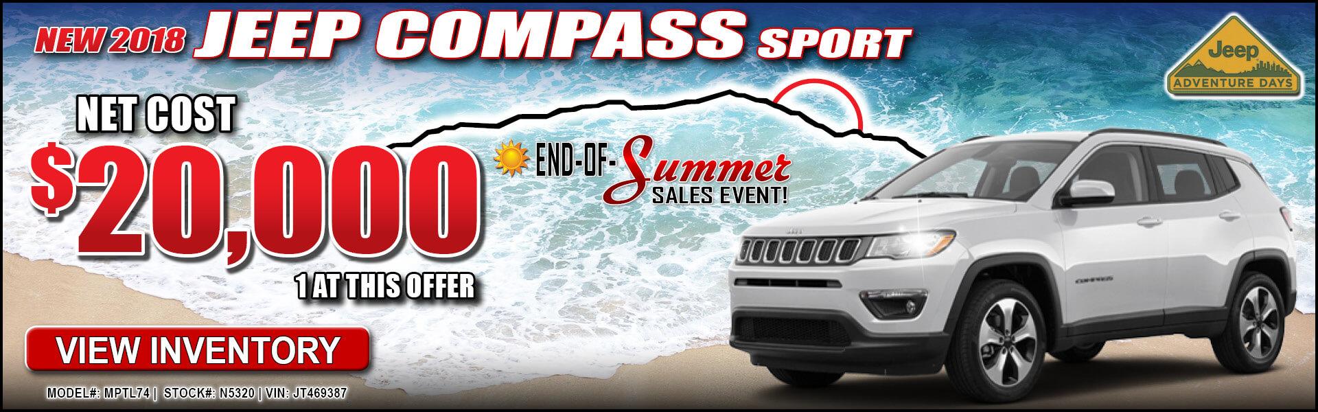 Jeep Compass $20,000