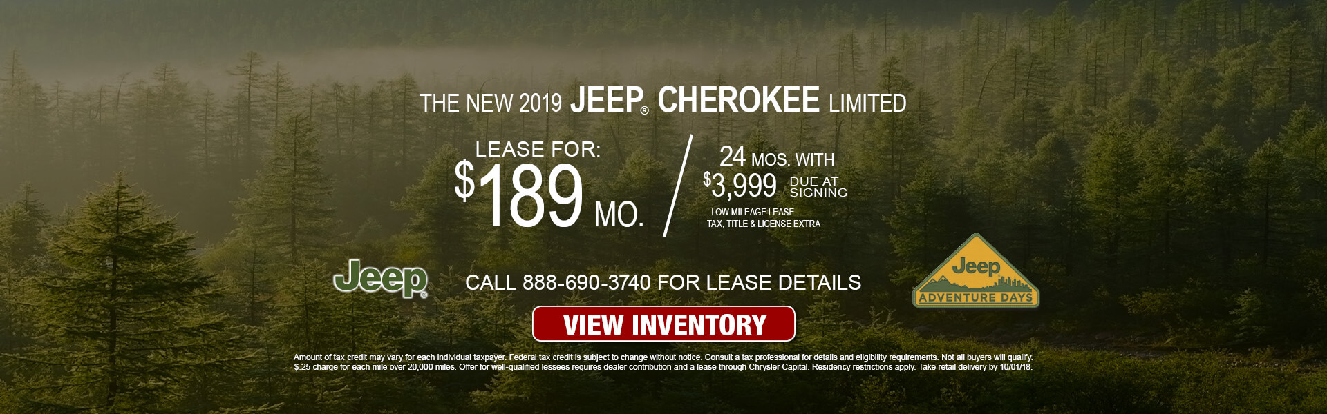 Jeep Cherokee Limited $189 Lease