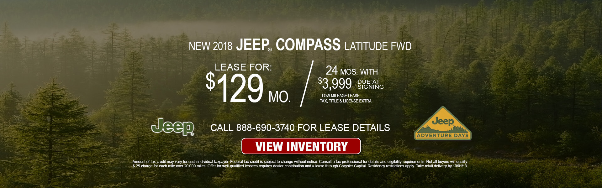 Jeep Compass $129 Lease