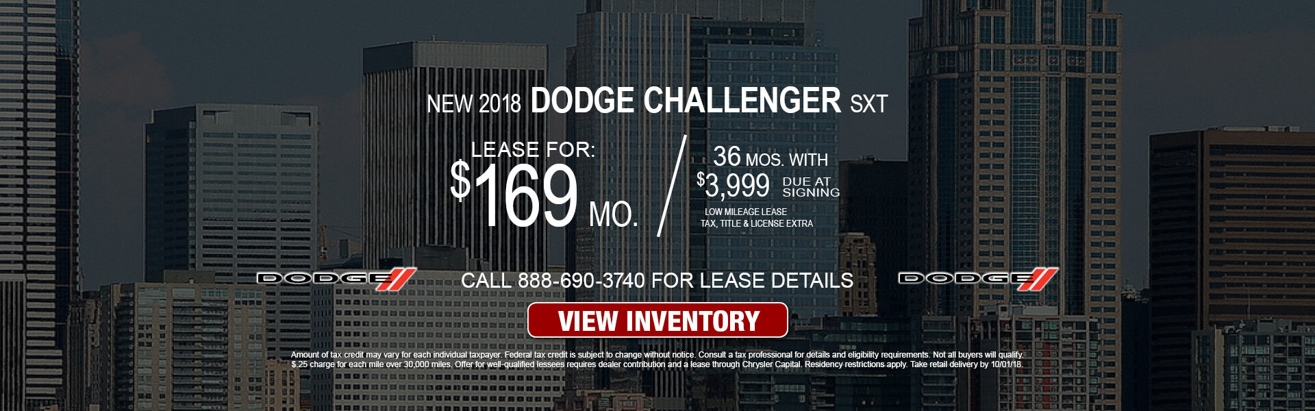 Dodge Challenger SXT $169 Lease