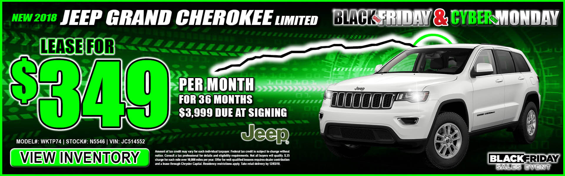 Jeep Grand Cherokee $349 Lease