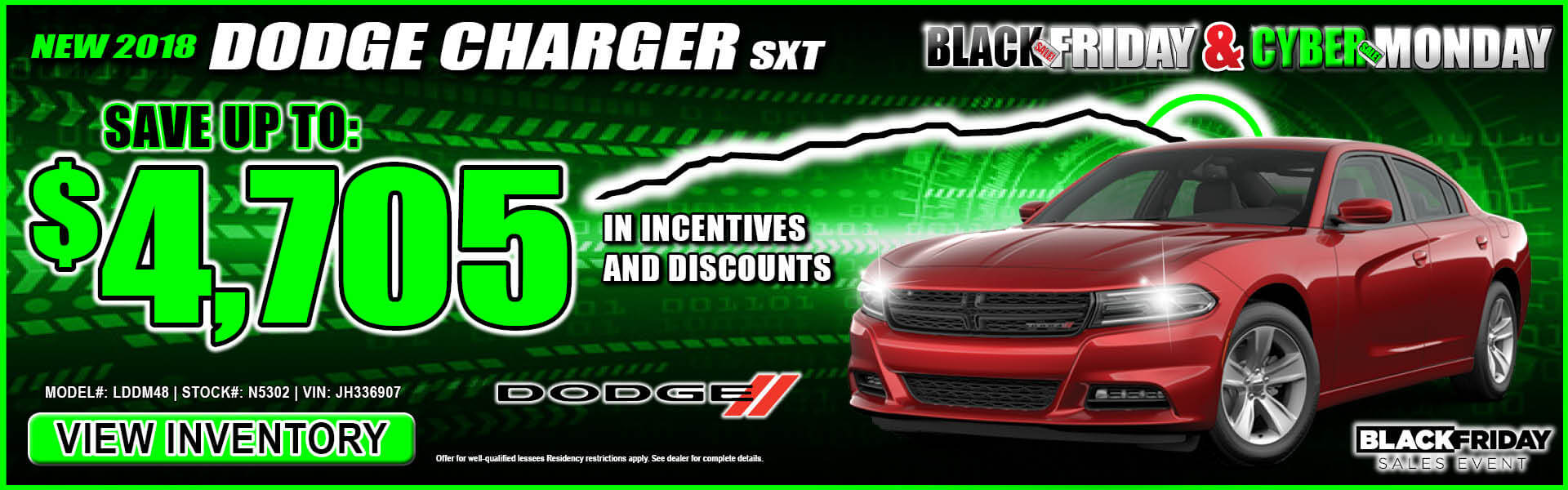 Dodge Charger $4,705 Incentives