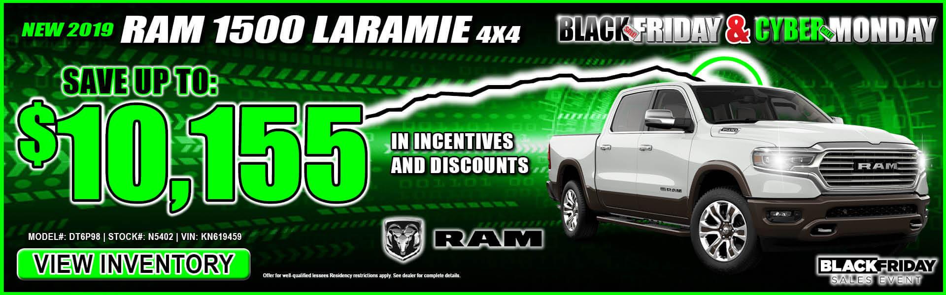 Ram 1500 $10,155 Incentives