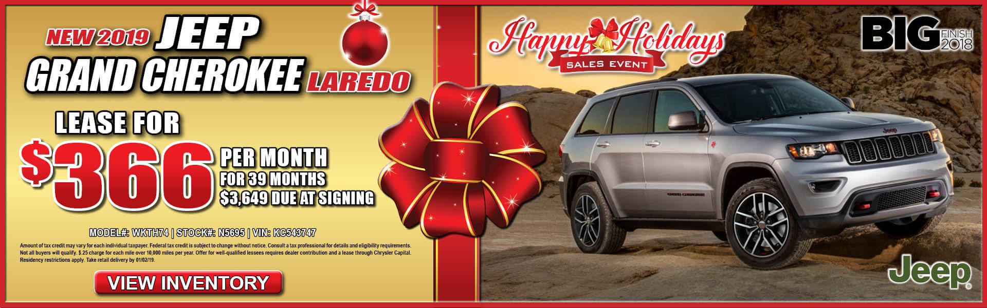 Jeep Grand Cherokee $366 Lease