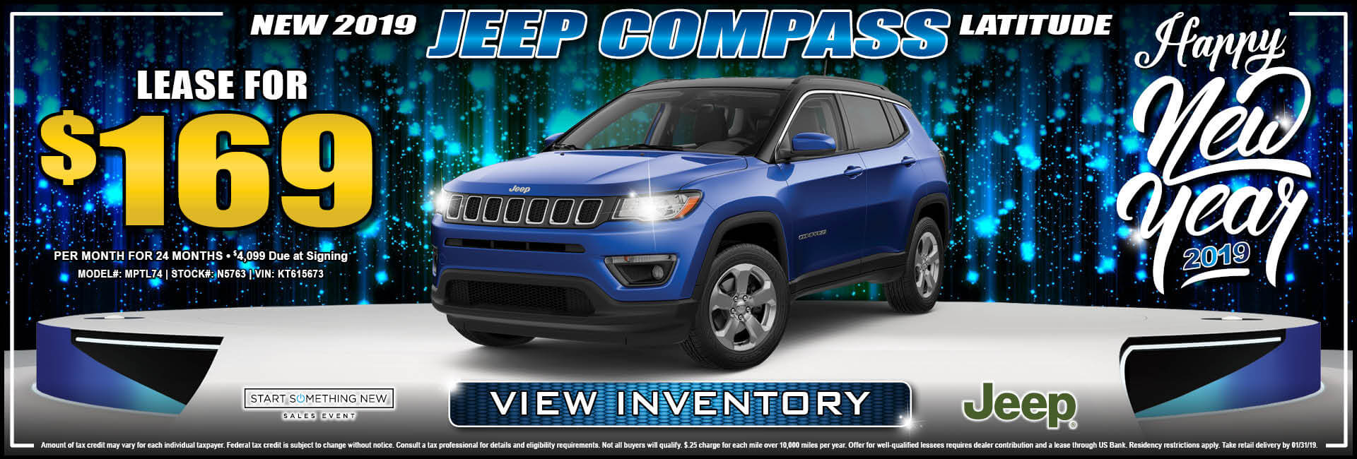Jeep Compass $169 Lease