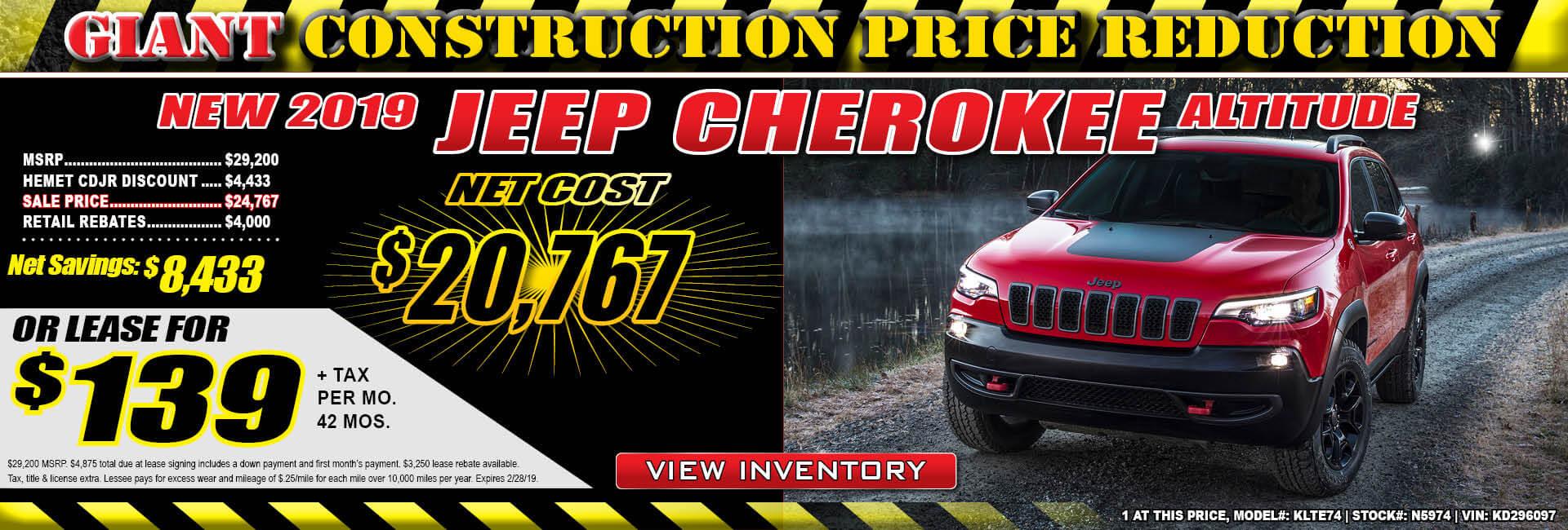 Jeep Cherokee Lease $139